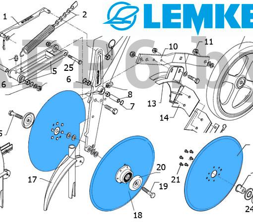 Диск сошника 3490010 Lemken